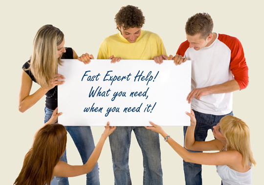 Fast Expert Tutoring Help! What you need, when you need it!